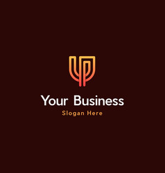 Letter u line creative business logo vector
