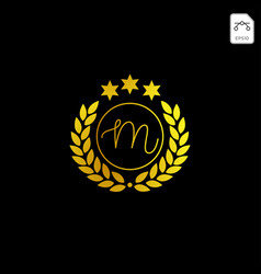 Luxury m initial logo or symbol business company vector