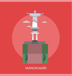 Manokwari conceptual design vector