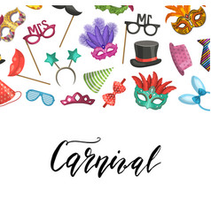 masks and party accessories vector image
