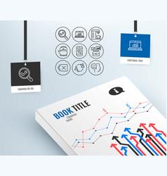 message online statistics and business portfolio vector image