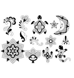 mexican traditional decorative objects vector image