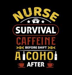 nurse typographic quotes design vector image