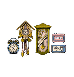 old clocks vector image