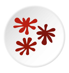 Paintball blob icon circle vector