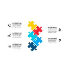 puzzle processes infographics businecc vector image