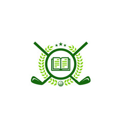read golf logo icon design vector image