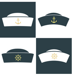 sailor hat icon vector image