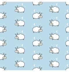 Seamless cute sheep pattern vector