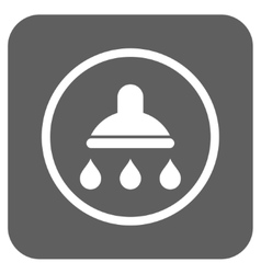 Shower Flat Squared Icon vector