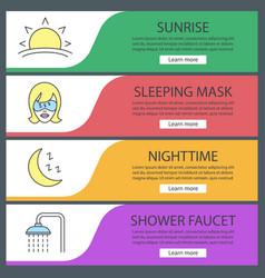 sleeping accessories web banner templates set vector image