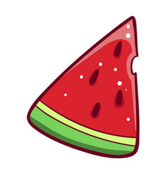 Slice watermelon icon green summer berry vector