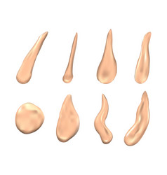 smears of beauty cream vector image