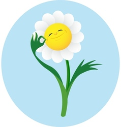 Smiling flower vector