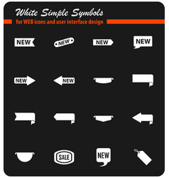 Sticker and label icon set vector