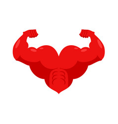 strong heart and hands muscular powerful love vector image