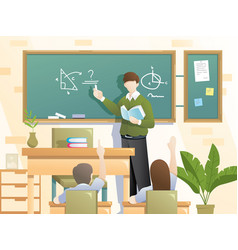 students schooling vector image