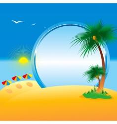 Summer collection four seasons vector