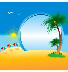 summer collection of four seasons vector image