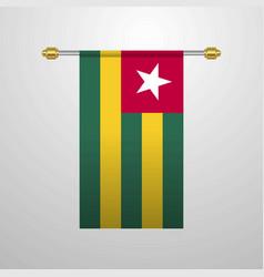 togo hanging flag vector image
