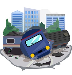 Train crash vector