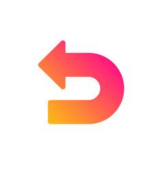 Undo arrow icon left turn vector