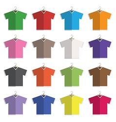 v neck t-shirts vector image