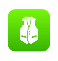 waistcoat icon green vector image