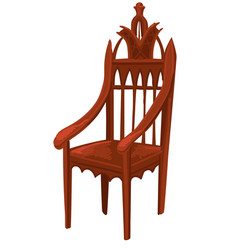 wooden chair or throne king or queen vector image