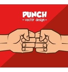 boxing championship punch isolated vector image