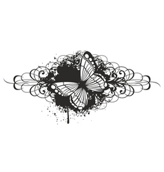 butterfly with pattern vector image vector image