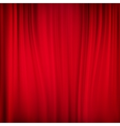Close view of a red curtain EPS 10 vector image