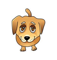 cute sad dog vector image vector image