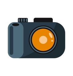Digital flat photo camera on tripod technology vector image