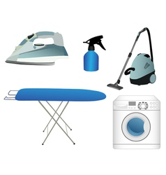 Household appliances vector image vector image