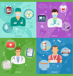 medical square banners vector image