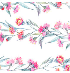 watercolor eucalyptus pattern vector image vector image