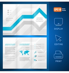 brochure design template leaflet geometric vector image