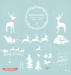 Winter Holidays designers toolkit vector image vector image