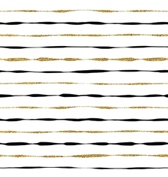 Background of golden shiny and black stripes vector image vector image