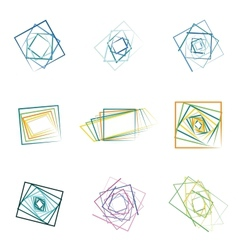 colored abstract icons vector image vector image
