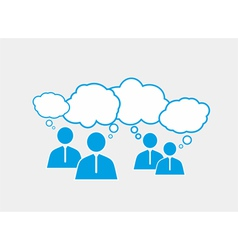 Figures with speech bubbles vector image
