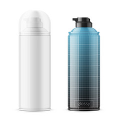 glossy tin can for shaving foam vector image