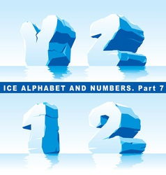 ice alpfabet Part 7 and numbers Part 1 vector image