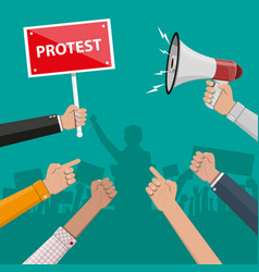 protest concept with megaphone vector image