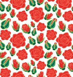 rose with buds seamless pattern vector image vector image