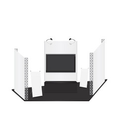 trade exhibition stand and x-stand for presentatio vector image vector image