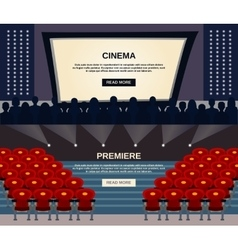 Cinema Banner Set vector image vector image