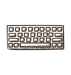 Computer keyboard symbol vector image