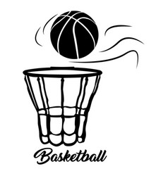 Isolated basketball net vector